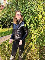 Куртка женская короткая черного цвета норма и батал, фото 1