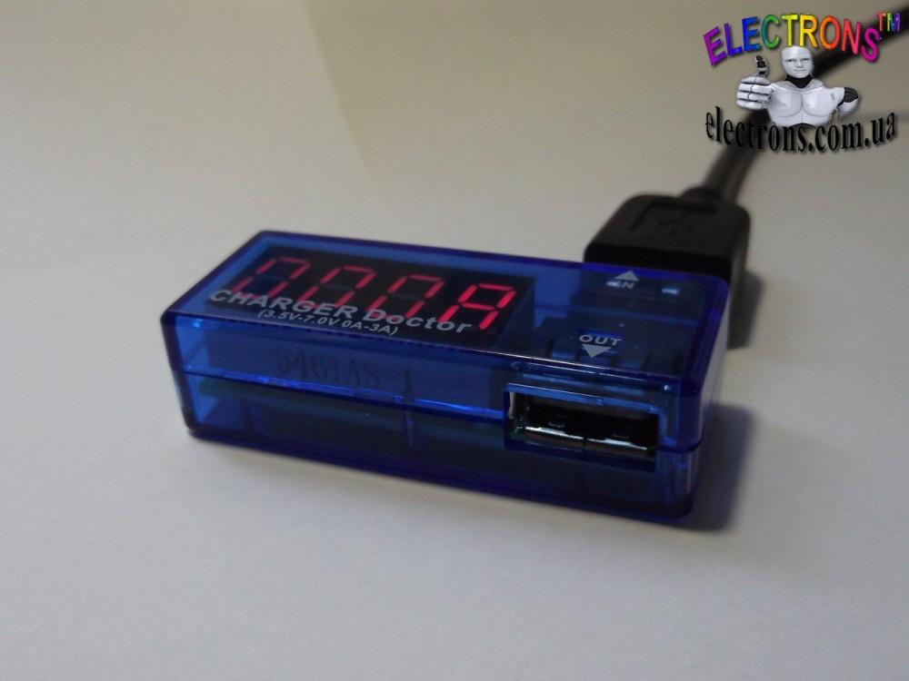 Тестер USB зарядных устройств для портативных гаджетов ток и напряжение