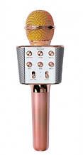 Караоке микрофон Wster WS1688 розовое золотой