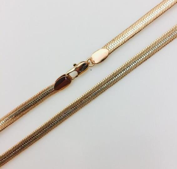 Цепочка Fallon, плетение Жгут, Н-0.6 длина 60 см позолота+ родий