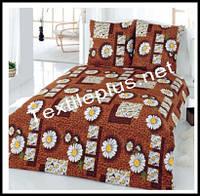 Махровое постельное белье евро Karbeltex Brown daisy