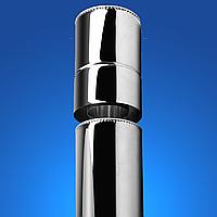 Труба дымоходная из нержавеющей стали 0.5 м, 0.8 мм ДЫМОХОДЫ АДС TERMO STALAR  (Сэндвич) духстенный ECO VERMICULITE 0.5 м нерж/нерж