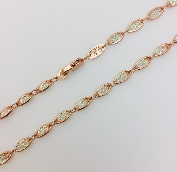 Цепочка Fallon, плетение Медальон, Н-0.4 длина 50 см позолота+ родий