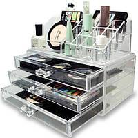 Акриловый органайзер для косметики Cosmetic Storage Box модель JN 870