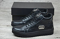 Мужские кожаные зимные ботинки Philipp Plein (Код: Чл 3   ) ►Размеры [40,41,42,43,44,45]