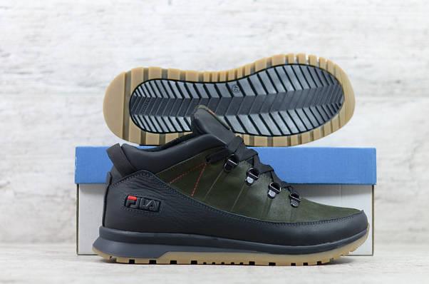 Мужские кожаные зимние ботинки/кроссовки Fila (Реплика) (Код: 101 ч/з/р  ) ►Размеры [42], фото 3