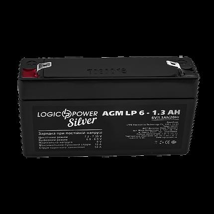 Аккумулятор AGM LogicPower LP 6-1,3 AH SILVER, фото 2
