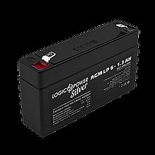 Аккумулятор AGM LogicPower LP 6-1,3 AH SILVER