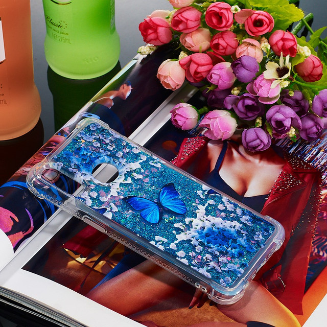 Samsung Galaxy a10s чехол накладка aqua series Голубая бабочка