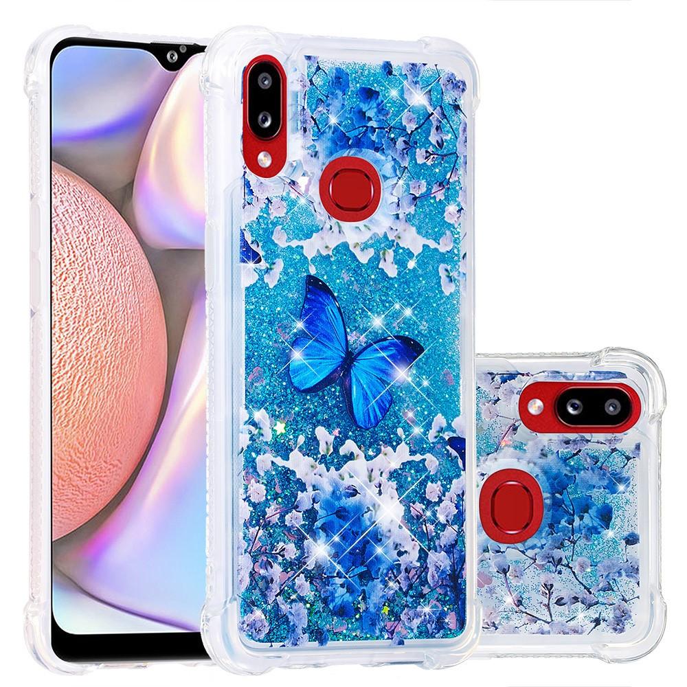 Женский чехол накладка для Samsung Galaxy A10s A107FD силиконовый Aqua Series, с принтом Голубая бабочка