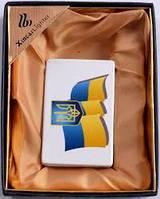 Зажигалка Символика Украины ХА12 Флаг и Герб Оригинальность Стильность Огонь всегда в кармане Забудь о спичках