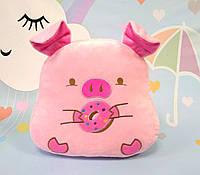 Мягкая игрушка Свинка, розовый, 37 х 37 см, фото 1