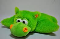 """Мягкая игрушка-подушка . """"Бегемот""""  зеленый 52 х 47, фото 1"""