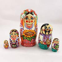 Матрьошка — Українська родина з п'яти 15см, фото 1