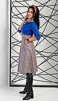 Женское платье за колено с карманами. Размеры 44 - 52, фото 1