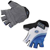 Перчатки EXUSTAR CG170A бело-синие, гель, XL