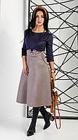 Жіноче плаття за коліно з кишенями. Розміри 44 - 52