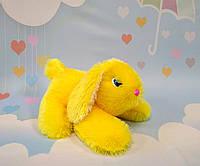 Мягкая игрушка. Кролик  27 х 35 см, желтый, фото 1