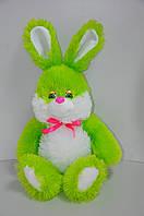 Мягкая игрушка.  Зайчик 42 х 25 зеленый