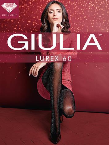 Фантазийные колготки с люрексом Giulia Zlata 60 den, фото 2