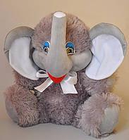 Мягкая игрушка . Слон серый 37 х 38