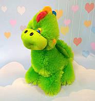 Мягкая игрушка зелёный дракон 34 х 32 см, фото 1