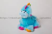 Мягкая игрушка .небесно-синий дракон 45 х 43