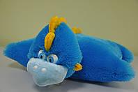 Мягкая игрушка-подушка. Синий дракон 51х57