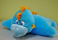 Мягкая игрушка-подушка. Небесно-синий дракон  51х57, фото 1