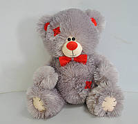 Мягкая игрушка серый медведь 30 х 34 см