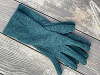 Рукавички напіввовняні GWx17 зелені, фото 1