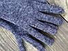 Рукавички напіввовняні GWx6 синій меланж
