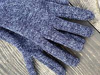 Рукавички напіввовняні GWx6 синій меланж, фото 1
