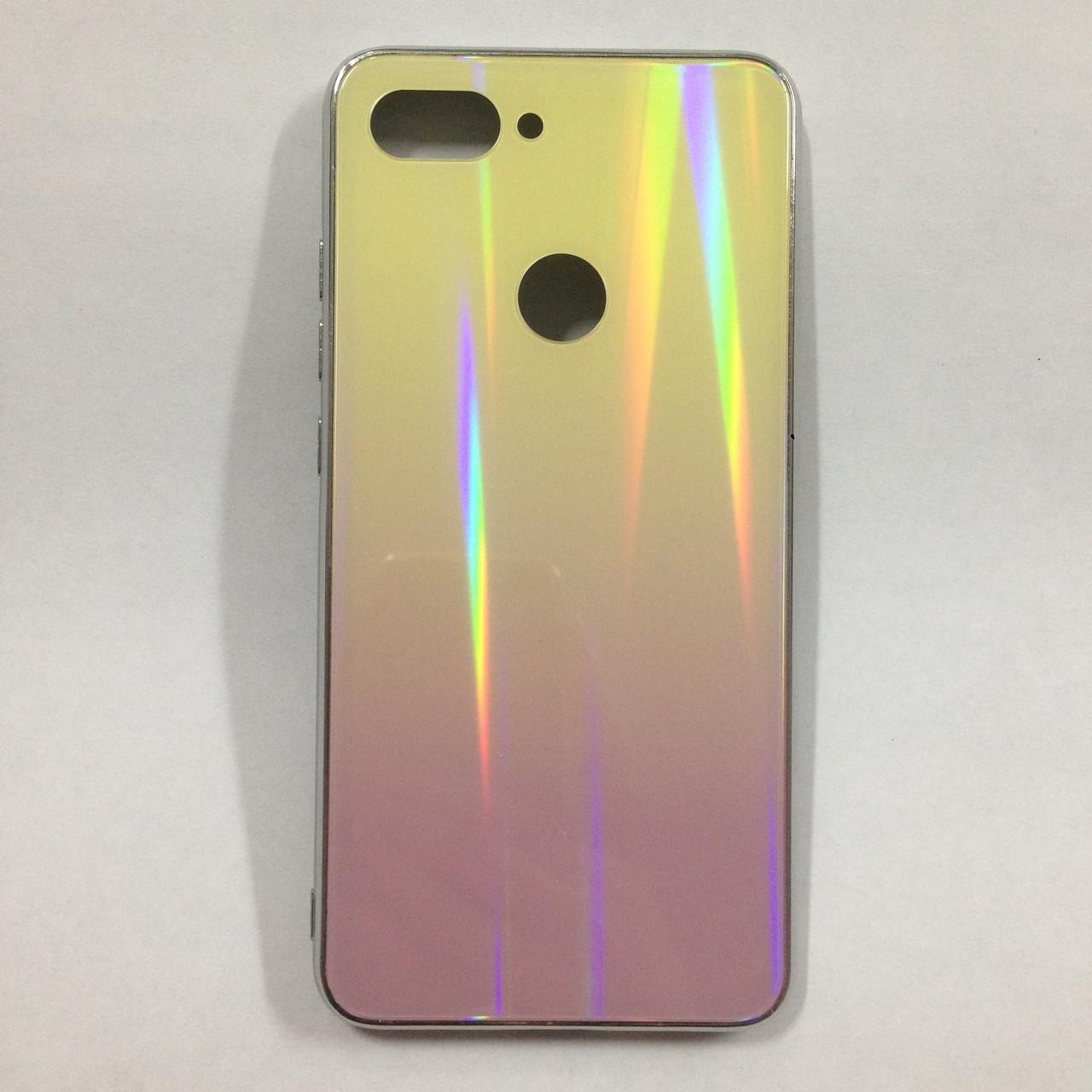 Чехол для Xiaomi Mi8 Lite Holografic Yellow