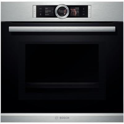 Духовой шкаф с микроволновым режимом Bosch HMG636BS1 - Ш-60см/9реж/67 л./диспл/нерж.сталь