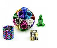 Магнитный конструктор головоломка Неокуб / NeoCube 216 шариков по 5 мм, цвет радуга