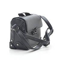 Оригинальная женская сумка-сундучок  Little Pigeon черный.