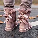 Женские Угги UGG Biley bow II boot Pink Cryctal, фото 4