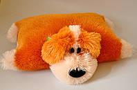 """Мягкая игрушка-подушка""""трансформер"""". Собака  43 х 55 медовый"""