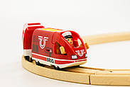 BRIO World АКСЕССУАРЫ ТРАНСПОРТ Пассажирский поезд с USB подзарядкой, вагоном и машинистом 33746, фото 3
