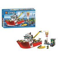 """Конструктор """"CITIES"""" """"Пожежний катер"""" (коробка) 450 дет. 10830 р.53,5*28*8,5 см"""