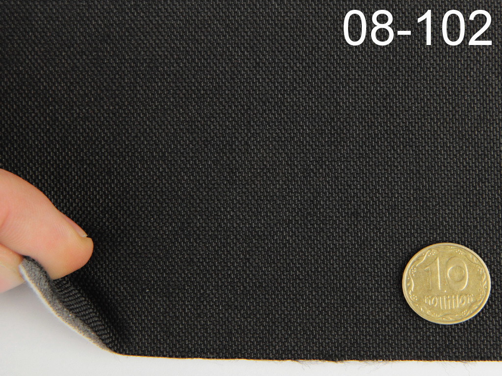 Авто-ткань (Германия) для боковой части автомобиля, черная, на войлоке 08-102
