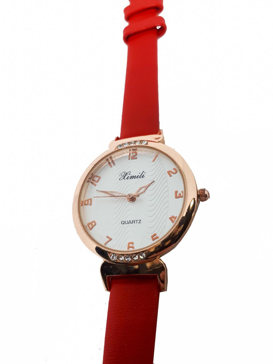 Часы женские  кварцевые  Ximili. Красный