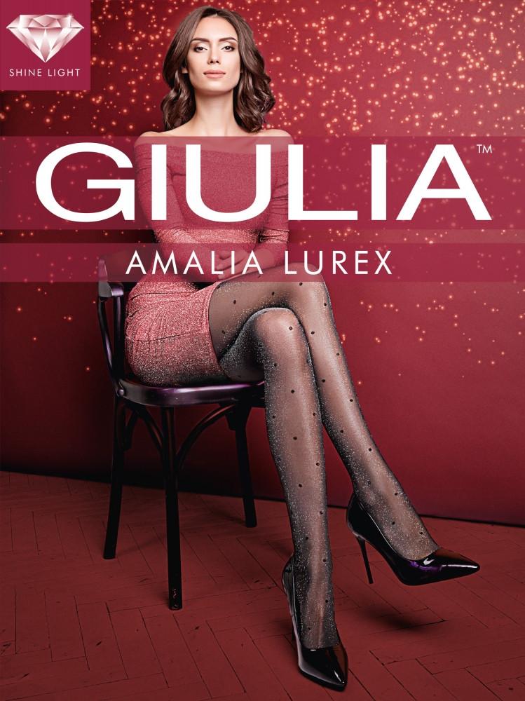 Фантазийные люрексовые колготки в горох Giulia Amalia Lurex 20 den