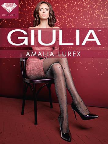 Фантазийные люрексовые колготки в горох Giulia Amalia Lurex 20 den, фото 2