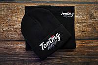 Комплект зимний мужской черный шапка + бафф. Реплика