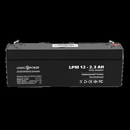 Аккумулятор кислотный AGM LogicPower LPM 12 - 2,3 AH, фото 2