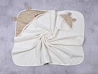 """Махровый комплект для купания малыша (полотенце+мочалка) """"Star"""""""