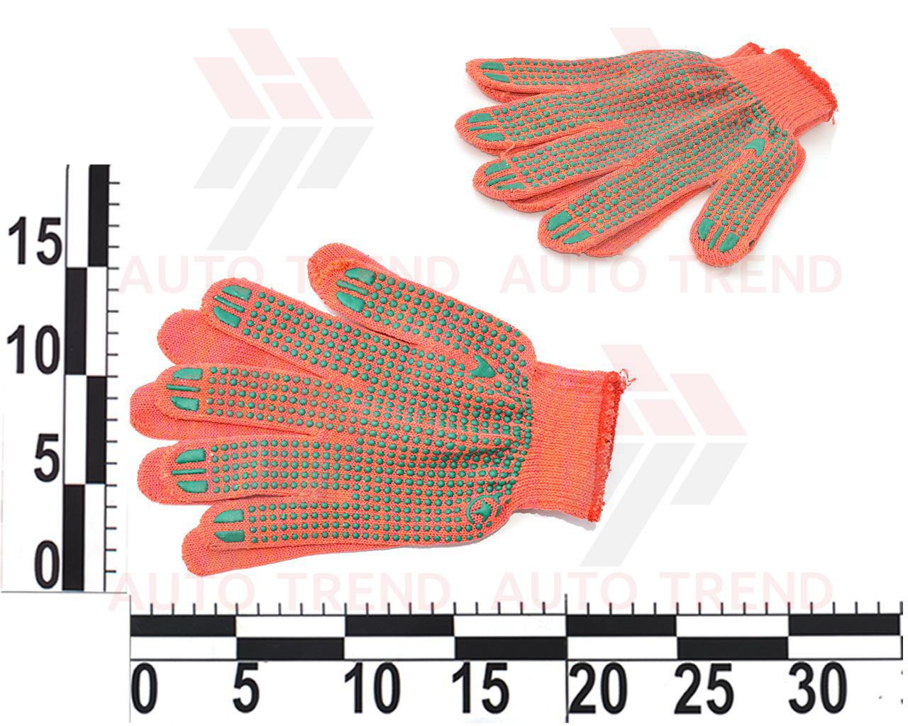 Перчатки рабочие трикотажные 2 класс, разные цвета