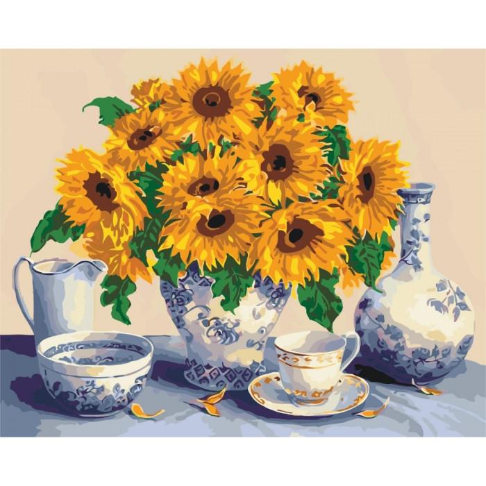 Картина по номерам Букет з соняшників  КНО5519 Идейка 40x50см